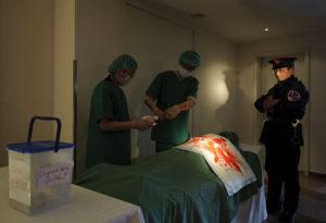 ドイツで行われた、中国臓器収奪問題に関するデモンストレーション